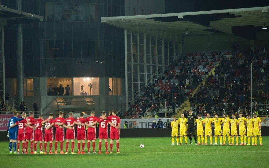 Latvijos ir Lietuvos futbolo rinktinių rungtynės vyks Liepojoje
