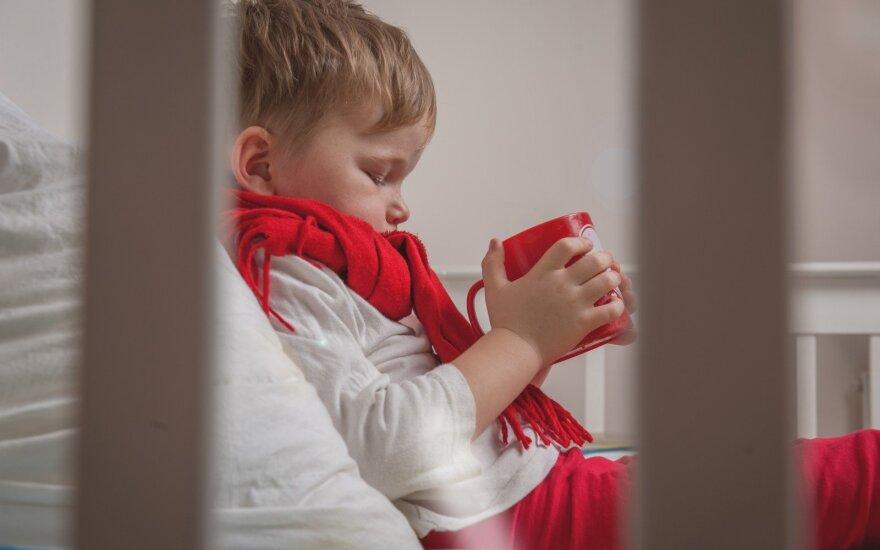 Sergamumas gripu ir peršalimo ligomis toliau didėja