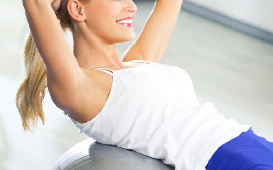 Video pamokėlė: pratimai pilvo ir liemens raumenims lavinti