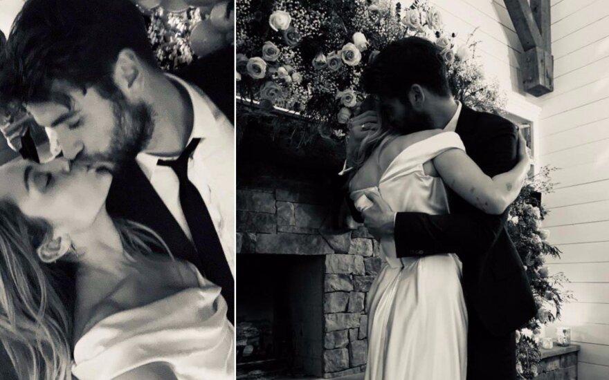Miley Cyrus ir Liam Hemsworth vestuvės