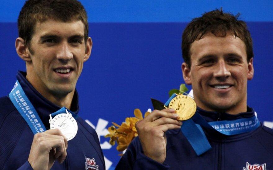 Michaelas Phelpsas ir Ryanas Lochte'as