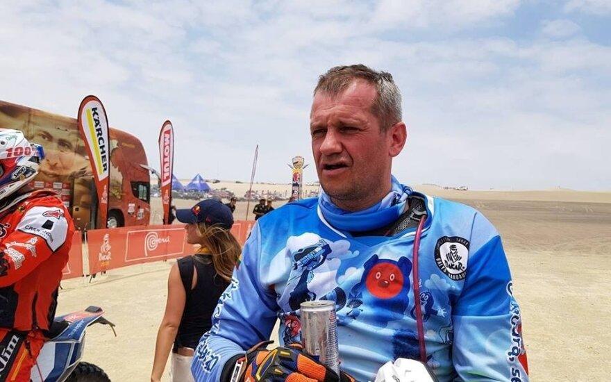 Balys Bardauskas po 2019 Dakaro pirmo greičio ruožo
