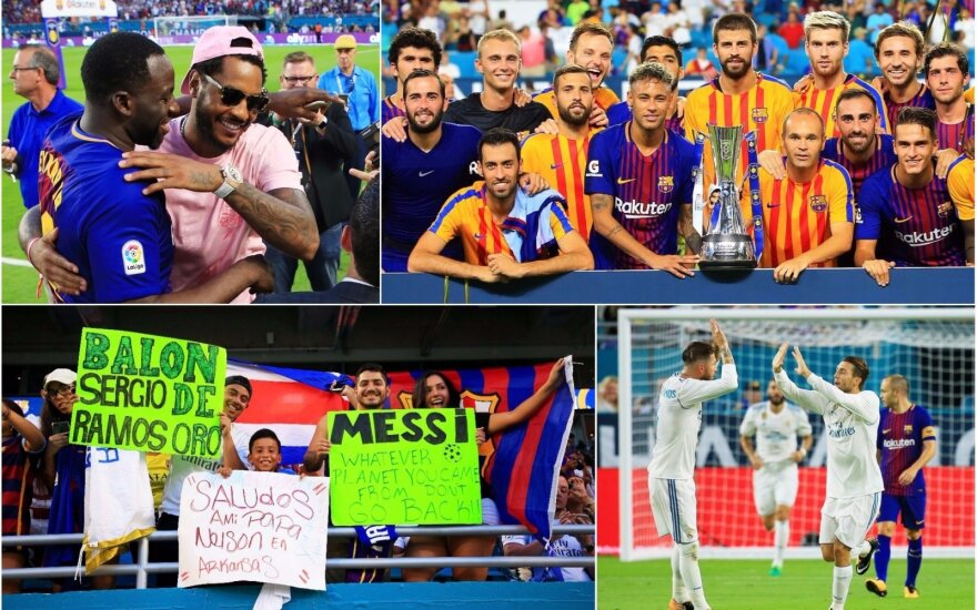 Ispanijos futbolo gigantų mūšis Majamyje