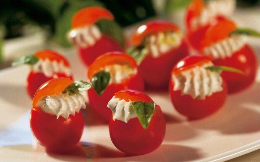 Fetos sūriu įdaryti pomidorai