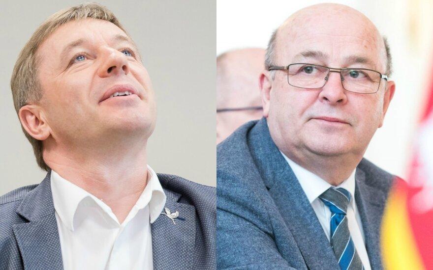 Ramūnas Karbauskis and Visvaldas Matijošaitis
