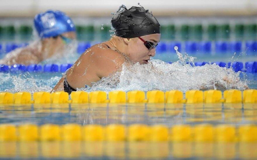 Sidabras: Meilutytė 50 metrų krūtine finale atplaukė antra