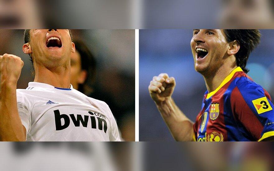 "Cristiano Ronaldo (""Real"") ir Lionelis Messi (""Barcelona"")"
