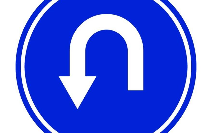 Kelio ženklas, apsisukimas