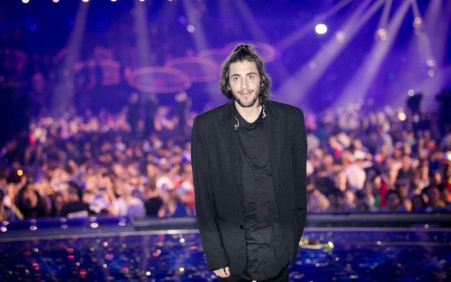 """""""Eurovizijos""""  nugalėtojas Portugalijos atstovas Salvadoras Sobralis"""