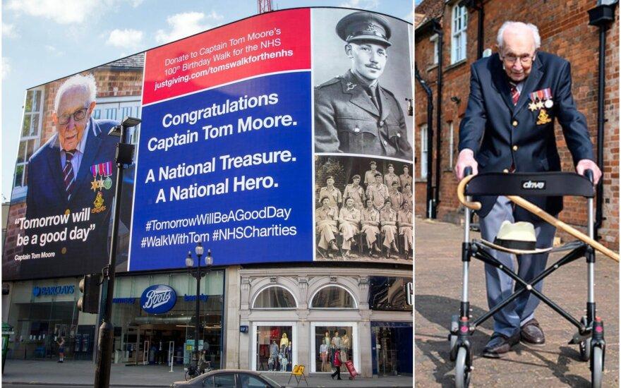 Padėka Tomui Moore'ui Londone, Tomas Moore'as / Foto:  Reuters-Scanpix