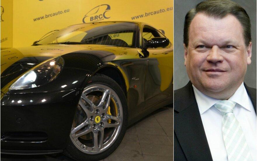 """Varžytynėse parduotas prabangus buvusio """"Snoro"""" akcininko Baranausko """"Ferrari 612 Scaglietti"""""""