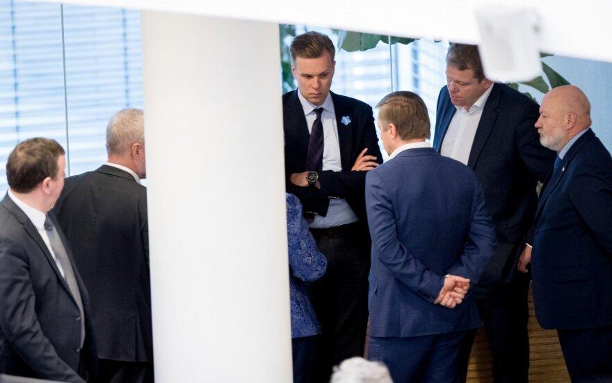 Gabrielius Landsbergis, Ramūnas Karbauskis, Andrius Palionis and Eugenijus Gentvilas