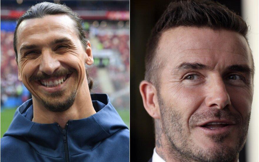 Zlatanas Ibrahimovičius ir Davidas Beckhamas