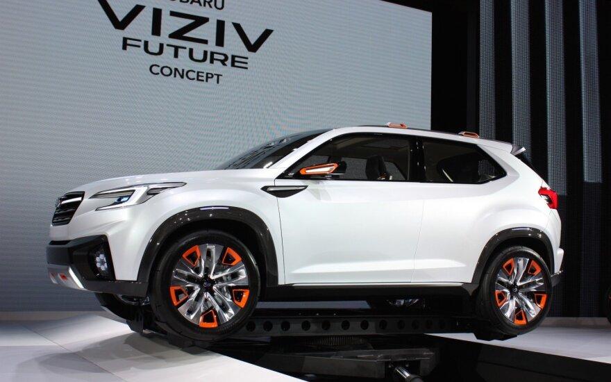 """Koncepcinis """"Subaru Viziv"""". Panašiai gali atrodyti naujasis elektromobilis"""