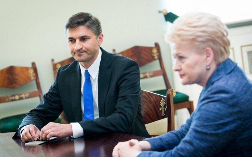 Jaroslav Neverovič and Dalia Grybauskaitė