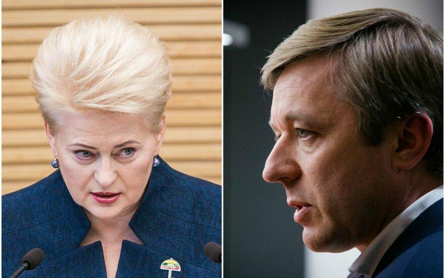 R. Karbauskis meta iššūkį D. Grybauskaitei: susitarimo nebus