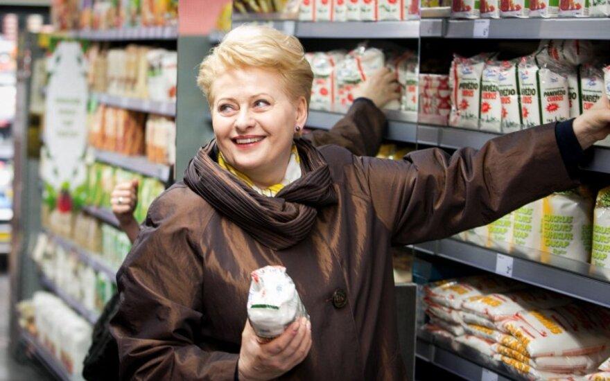 """D. Grybauskaitė davė startą """"Maisto banko"""" akcijai"""