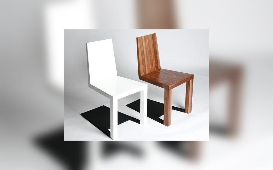 Optinės iliuzijos baldai: šiurpulį kelianti šešėlio kėdė