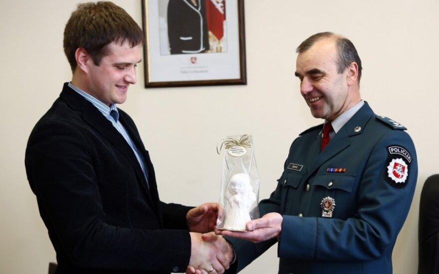 Vytautas Buivydas ir Šiaulių m. policijos viršininkas Rimvydas Šlekys