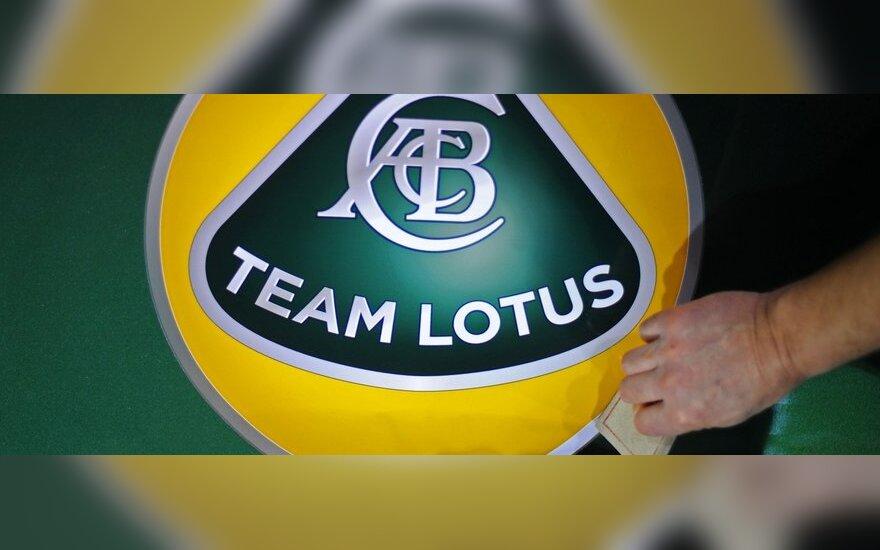 """""""Formulės-1"""" komandos """"Team Lotus"""" logotipas"""