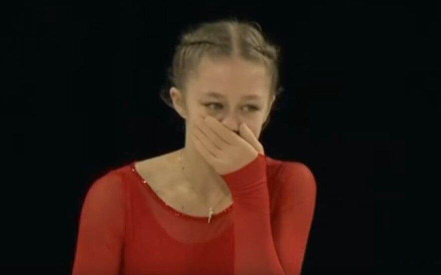 15-metės valia: čiuožėja iš Lietuvos skaudžiai krito pasaulio čempionate, bet nepasidavė