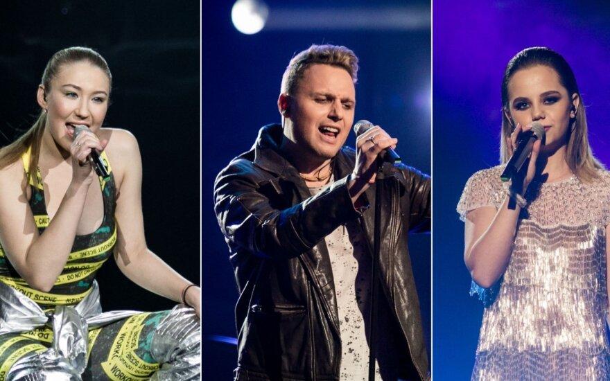 """Antrosios """"Eurovizijos"""" atrankos lyderiai"""