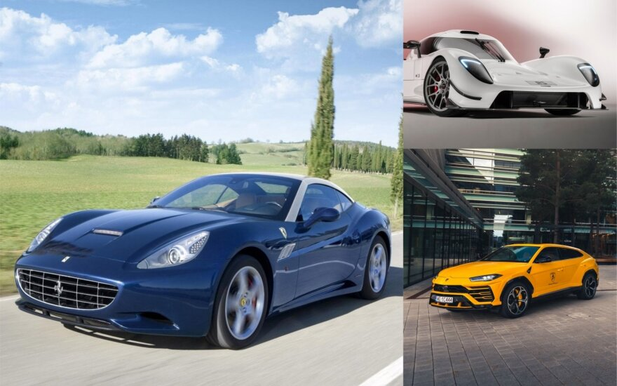 """Lietuviams krizė nebaisi: prisipirko prabangių automobilių, tarp kurių ir """"Ferrari"""", ir """"Lamborghini"""""""