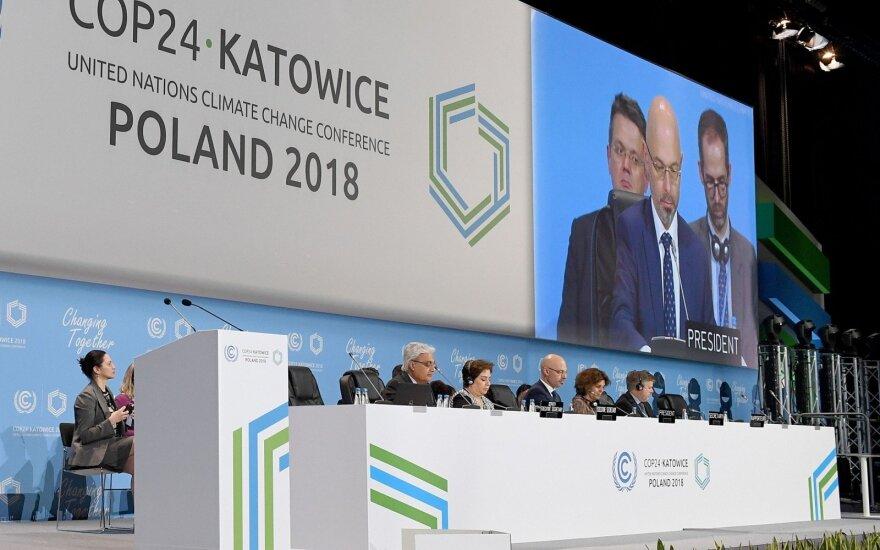 Lenkijos anglių kasybos mieste Katovicuose prasidėjo JT klimato kaitos konferencija