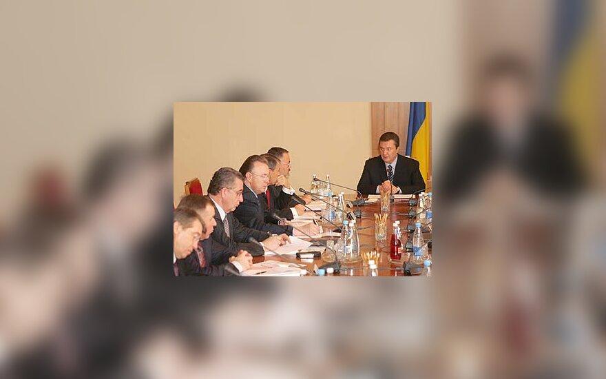 Viktoras Janukovičius vyriausybės posėdyje