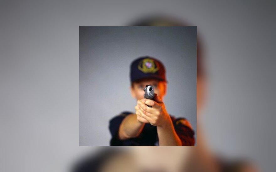 apsauga, policininkė, ginklas, pistoletas