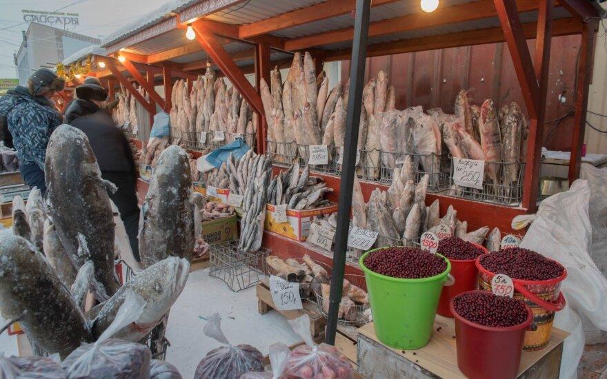 Žuvų turgus Rusijoje (asociatyvi nuotr.)