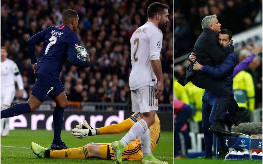 Kylianas Mbappe, Jose Mourinho / Foto: AFP-Scanpix, REUTERS-Scanpix