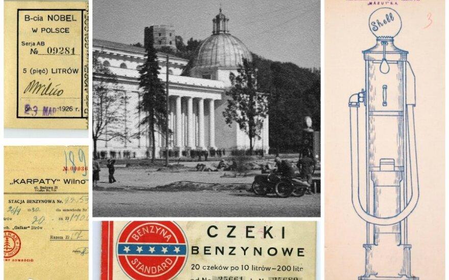 Pirmosios benzino kolonėlės Vilniuje