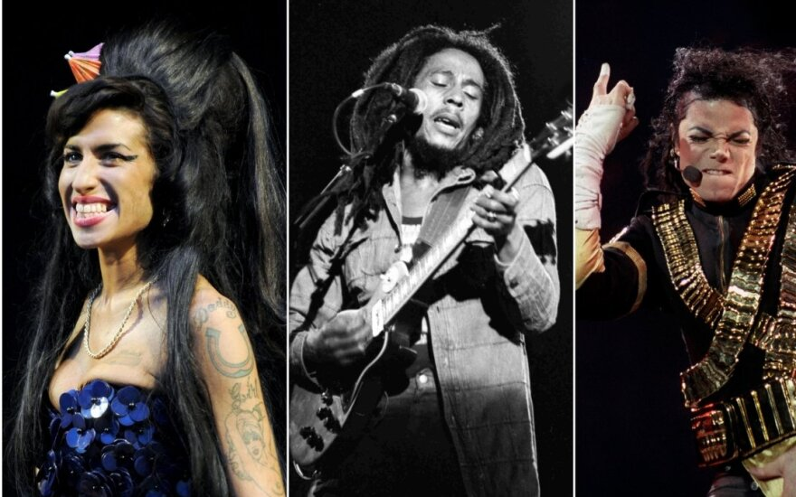 Amy Winehouse, Bob Marley, Michael Jackson, Avicii