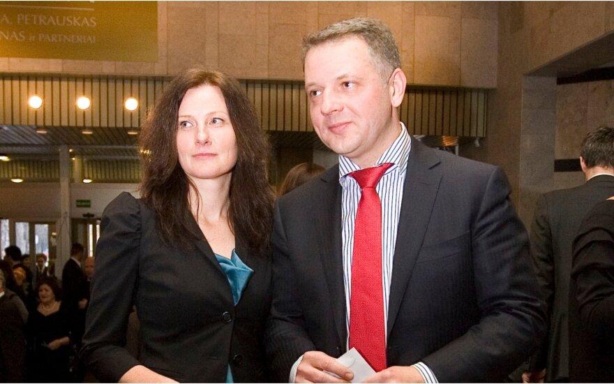Eligijus Masiulis su žmona