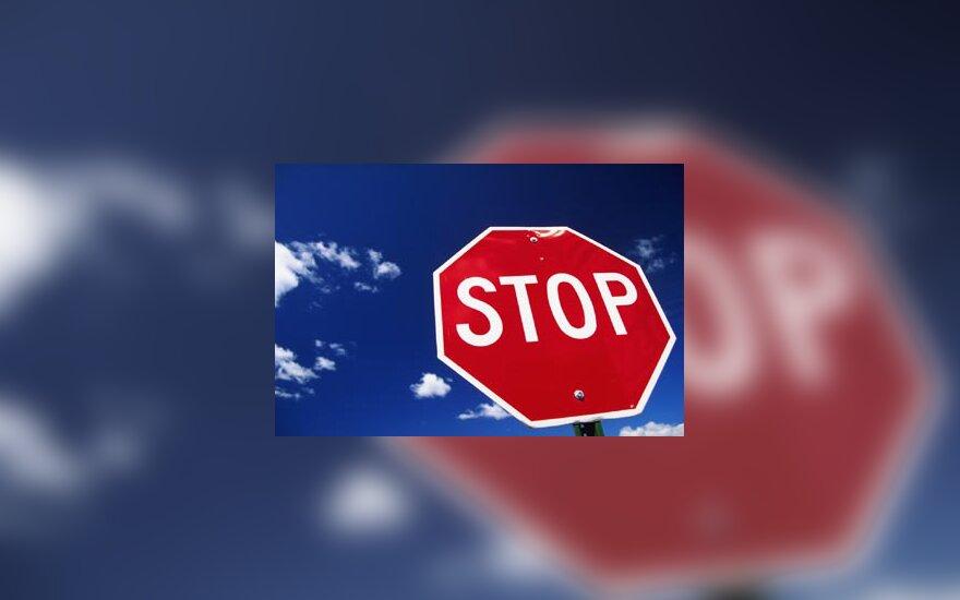 Stop ženklas, pavojus, pabaiga