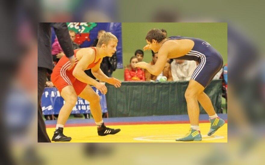 Klaipėdoje vyko tarptautinis jaunių laisvųjų imtynių turnyras