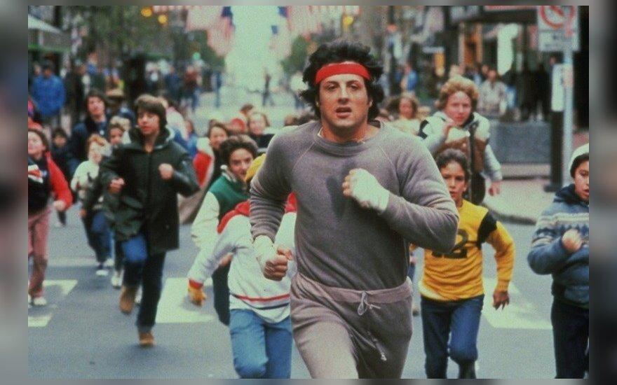 """Kadras iš filmo """"Rokis"""", Sylvesteris Stallone"""