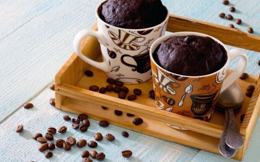 Šokoladinis pyragas puodelyje per 2 minutes