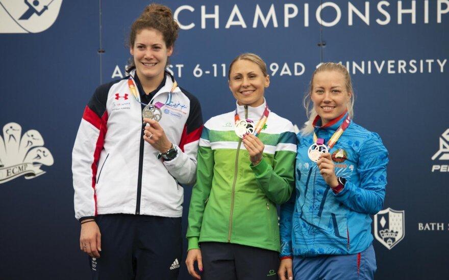 """Laura Asadauskaitė-Zadneprovskienė iškovojo Europos čempionato auksą (""""Pentathlon GB"""" nuotr.)"""