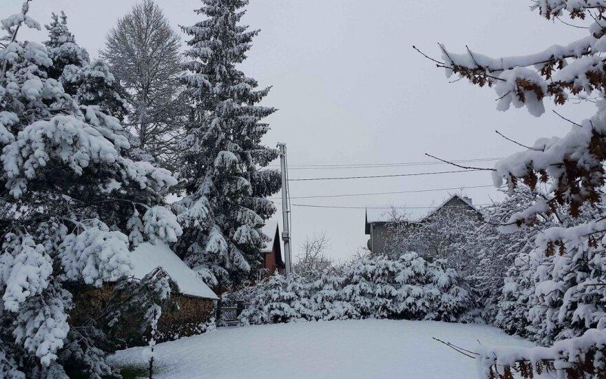 Pasidalinkite sniego nuotraukomis iš savo miesto!