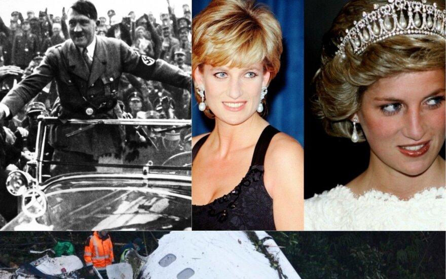 Adolfas Hitleris, Princesė Diana, lėktuvo katastrofa
