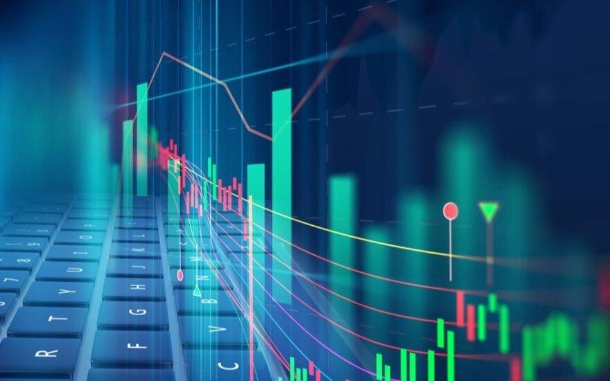 """""""Biržos laikmatis"""": pasaulio akcijų biržų indeksai nusidažė raudona spalva"""