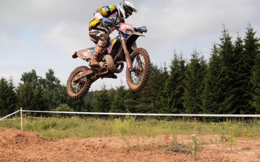 Motociklų kroso čempionate lietuviai iškovojo tris pirmąsias vietas