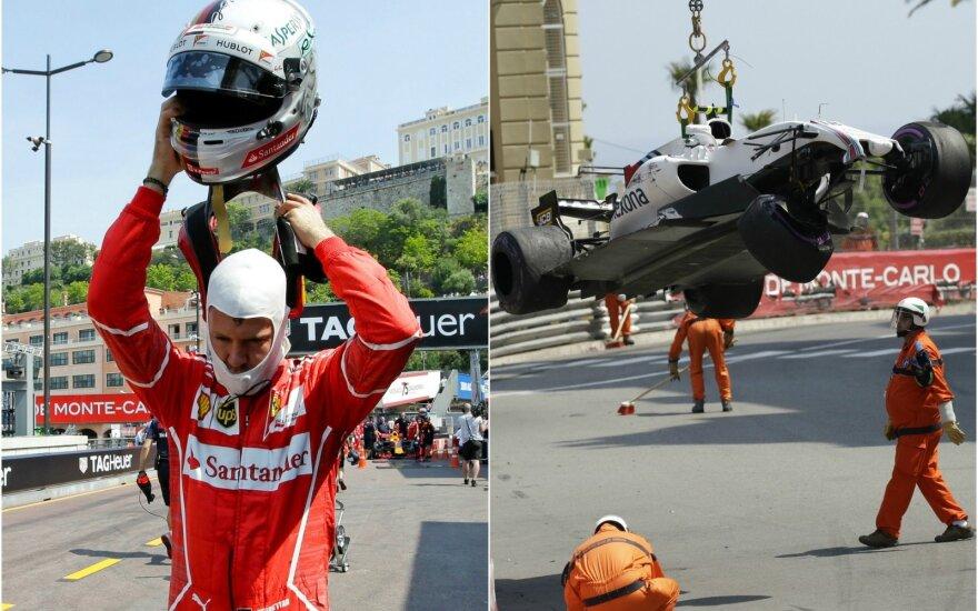 S. Vettelis, L. Strollo sudaužytas automobilis