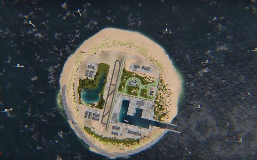 Grandiozinis planas: planuoja sukurti dirbtinę salą ir pardavinėti vėją
