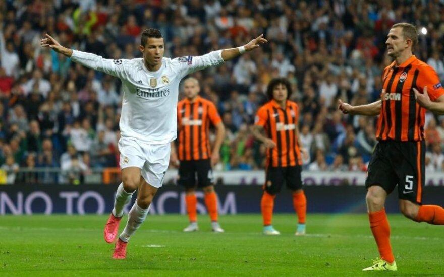 UEFA Čempionų lygos starte – C. Ronaldo įvarčiai ir abiejų Mančesterio klubų nesėkmės