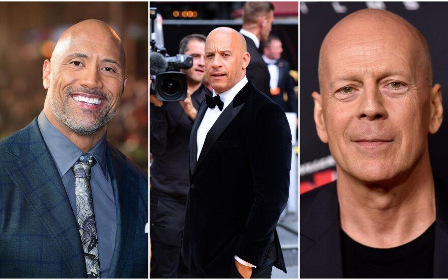 Dwayneas Johnsonas, Vinas Dieselis, Bruce Willisas