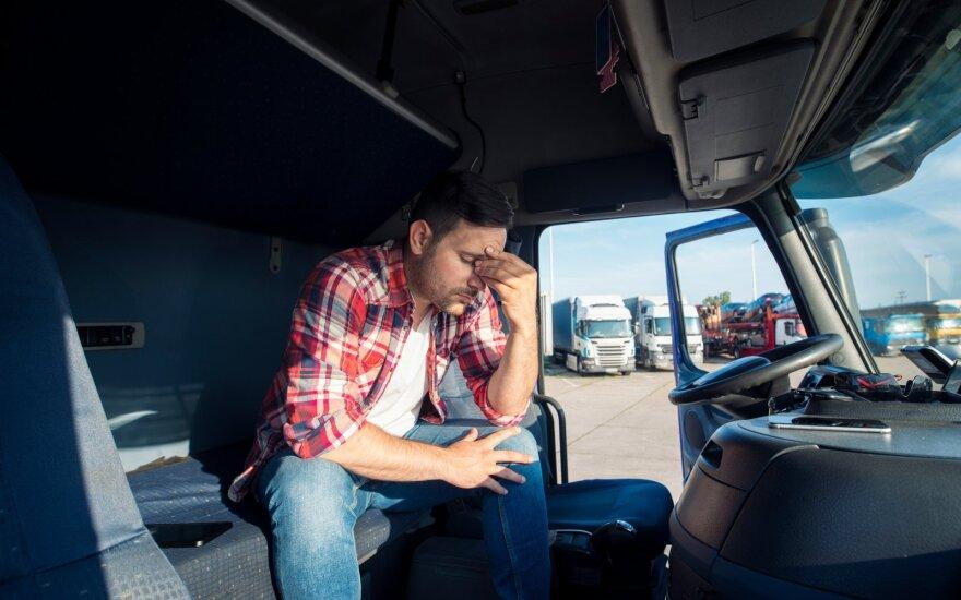 Vairuotojas matė nemažai prastų darbuotojų.