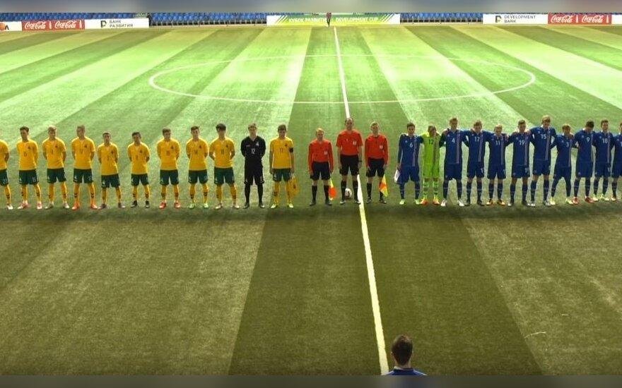 Lietuvos U-18 futbolo rinktinė su Islandija kovėsi iki pat baudinių serijos